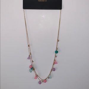 🌸2/$30🌸 Gold Pom Pom & Tassel Necklace NWT